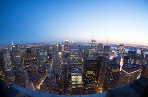 New York Skyline - 30 Rock by Blacktie-Photography