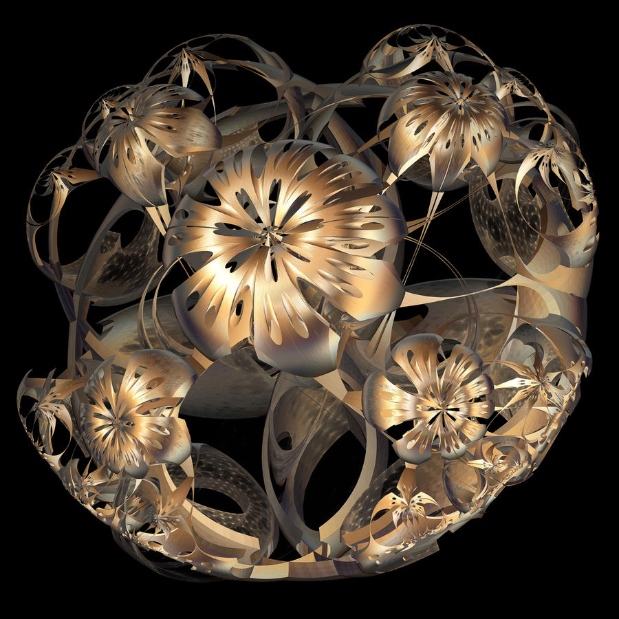 The Great Golden Bloom Sphere by kawardi