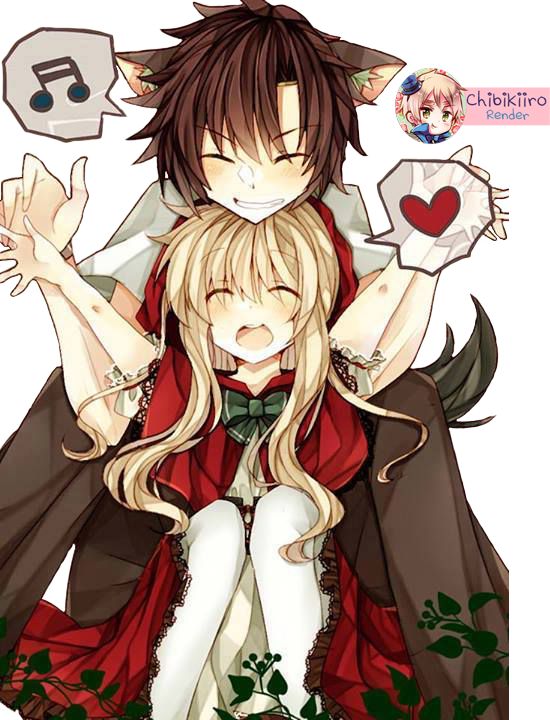 Little red riding hood and wolf anime gallery wolf seto and little red riding hood mary render by the wolf fell in love with red riding hood1221955 zerochan sciox Choice Image