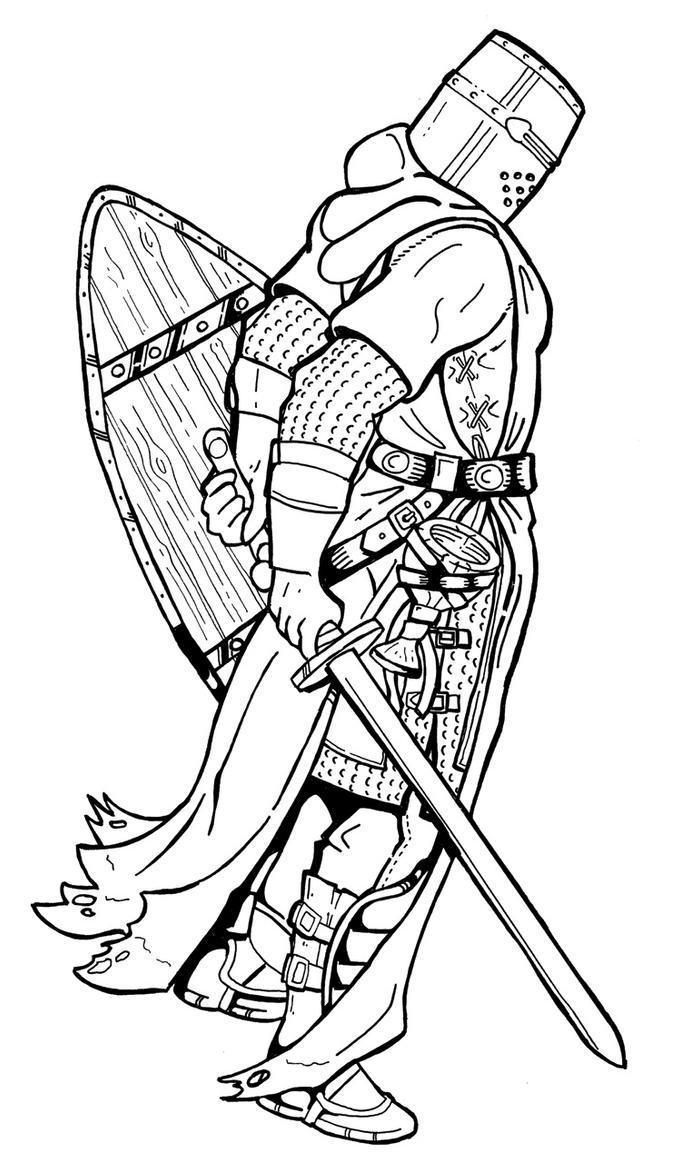 Templar Knight - inked by daratgh on DeviantArt
