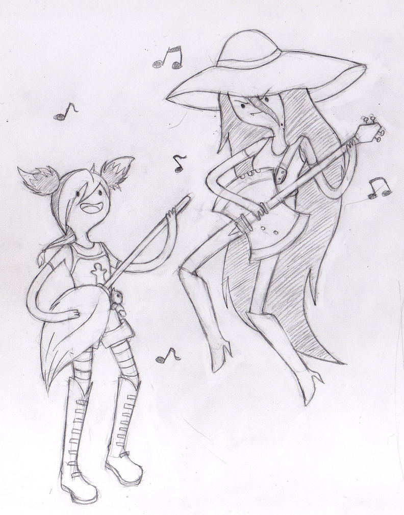 Mis Dibujos y más Miko_and_marceline___sketch_by_sweetcrow-d4vmx5r