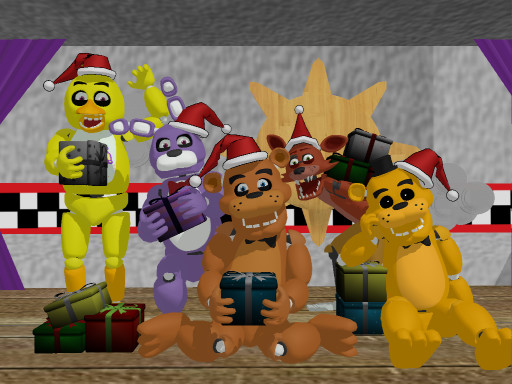 Merry Christmas!!! FNAF by IMyPHPMe on DeviantArt