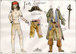 jack sparrow paper doll