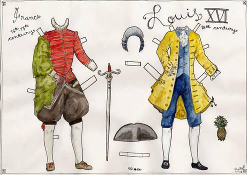 Louis XVI Paper Doll