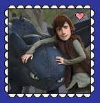 Toothless And Hiccup Stamp