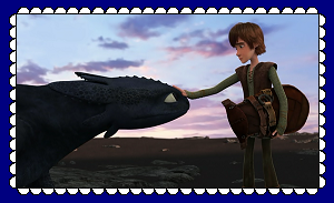 HTTYD Hiccup And Toothless Fan Stamp 2 by MorkelebTheDragon