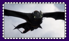 Night Fury/Toothless Fan Stamp 3 by MorkelebTheDragon