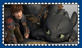 Hiccup And Toothless Fan Stamp 4 by MorkelebTheDragon