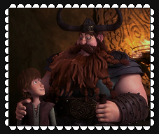 HTTYD Father And Son Fan Stamp by MorkelebTheDragon