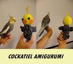 Cockatiel Amigurumi Norm Grey