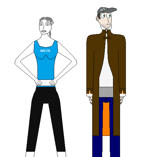 AT - Wii Fit Trainer and Aiden Pearce by Revan005