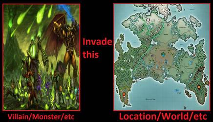The Burning Legion(WoW) invade Mekkan(Twokinds)