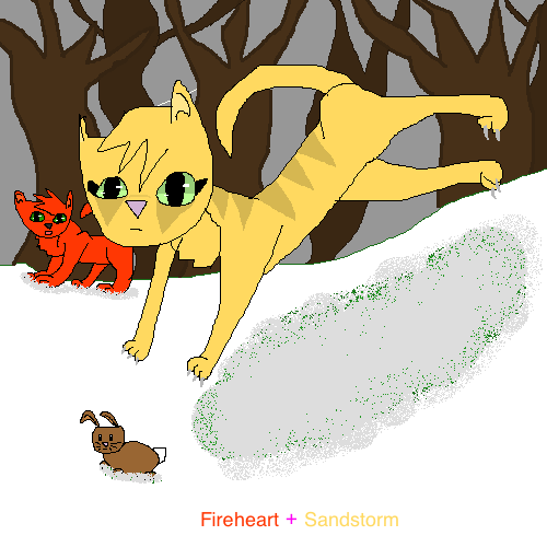 Warriors Fire And Ice Book: Warrior Cats: Sandstorm Scene: From Fire And Ice: By