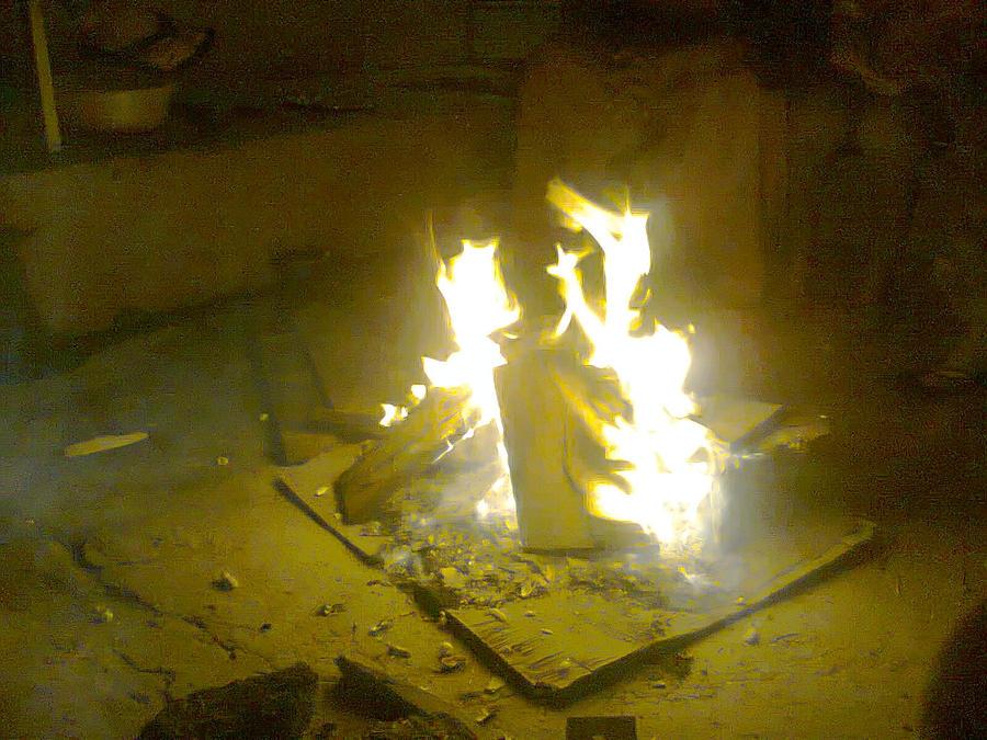 Lohri Festival Fire by cyogesh56