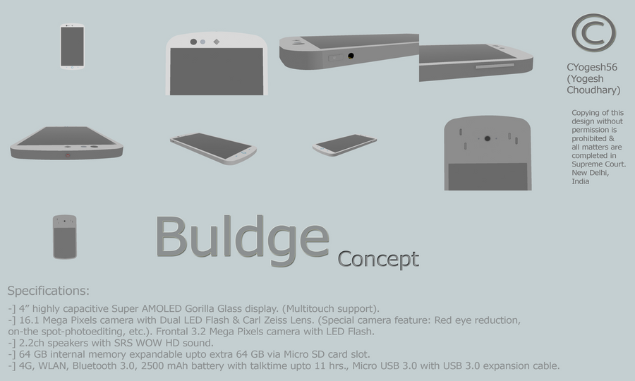 Buldge Concept phone. by cyogesh56