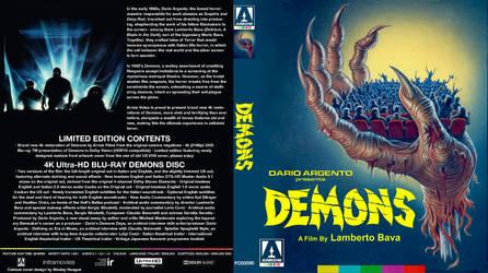 Demons 1985 ARROW 4k cover for homeless 4k discs