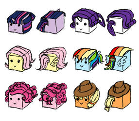 Pony Cubes Concept Art by CometTheMicroraptor