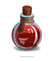 Level 3 Life Potion - Closed by adorabless