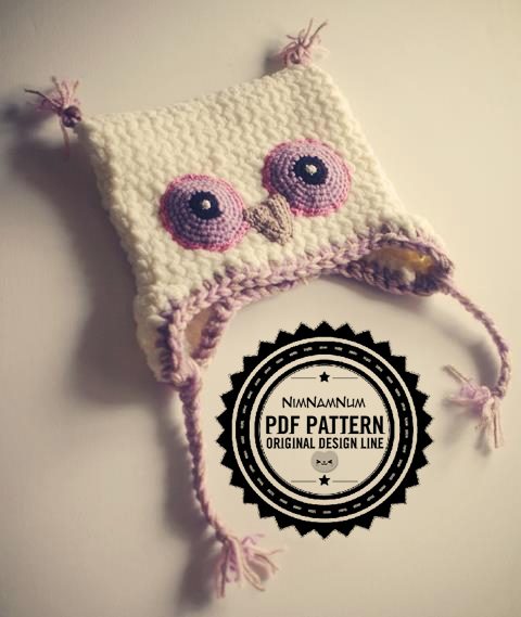 Crocheted Owl Hat Pdf Pattern Toddler Size 12m By Adorabless On