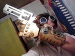 Steampunk Handcuff, gun and Goggles