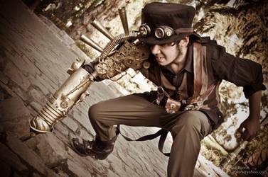 Felix Lobotomy Creating an Earthquake by SteampunkChile