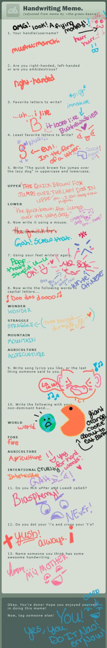Handwriting Meme by mushu-manchi