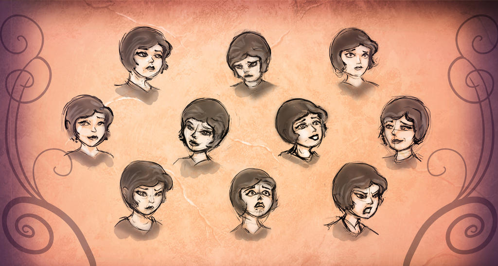 Expression Sheet by the-awaken