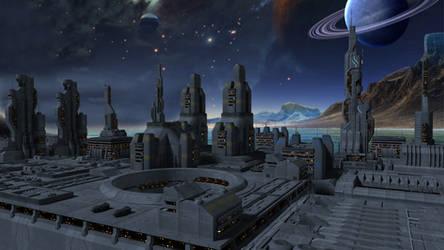 Alien Night City Stock by vatorx