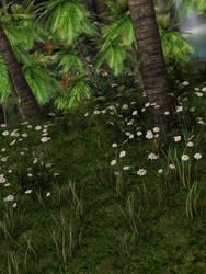 Jungle Flowers Stock