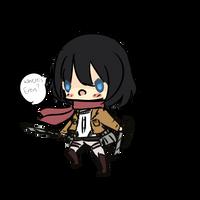 Chibi Mikasa by nekopew