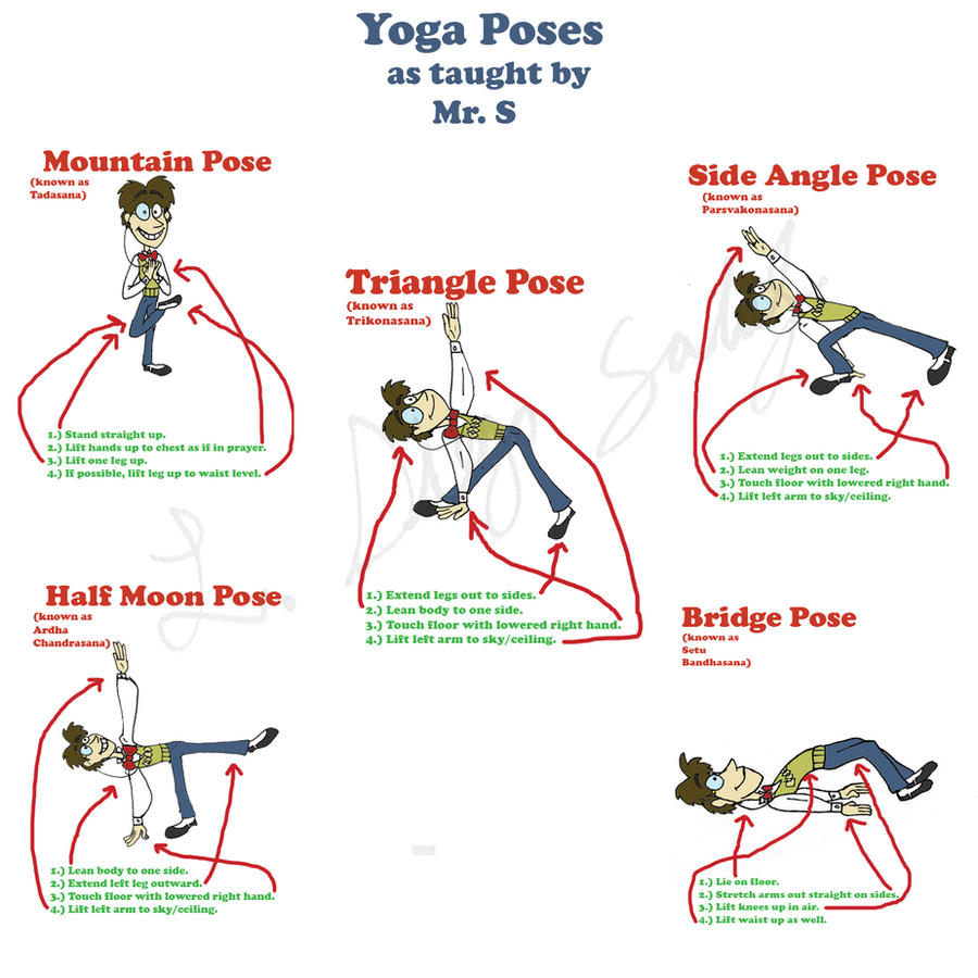 Yoga Poses as Taught by Mr. S by Veggieman on DeviantArt