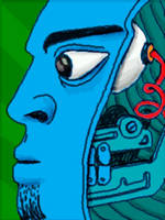 blue clockwork head by chaitanyak