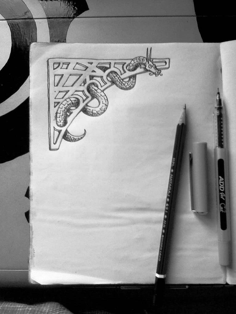 dragon on paper 2 by chaitanyak