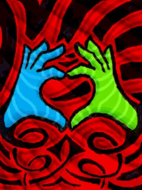 hand heart by chaitanyak