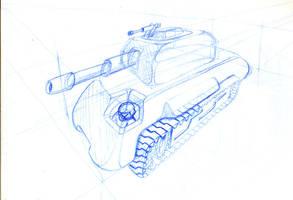 tank sketch by chaitanyak