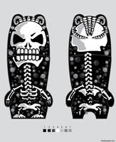 mimobot skull dreads by chaitanyak