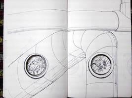 flight sketch by chaitanyak