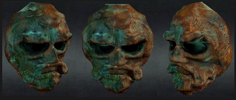 old corroded bronze mask by chaitanyak on DeviantArt