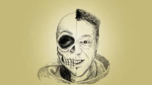 Self Portrait with skull by chaitanyak