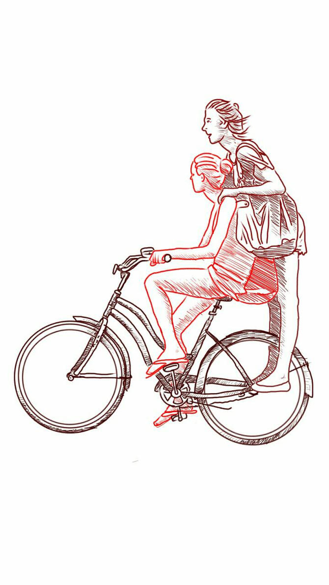 Girls on a bike by chaitanyak