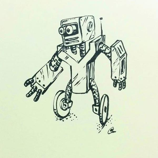 Robot on wheels by chaitanyak
