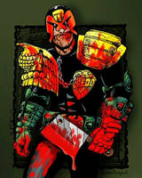 Judge Dredd Coloring contest entry by chaitanyak