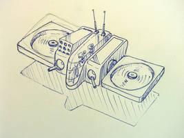 VTOL Gunship sketch by chaitanyak