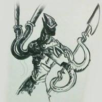tentacle warrior by chaitanyak