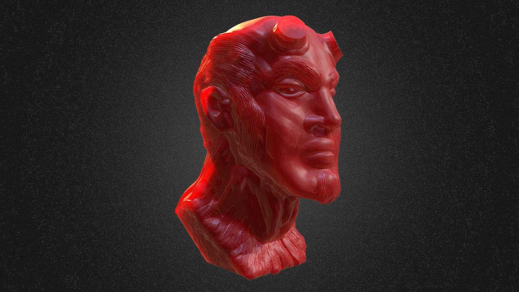Hellboy Sculpt by chaitanyak