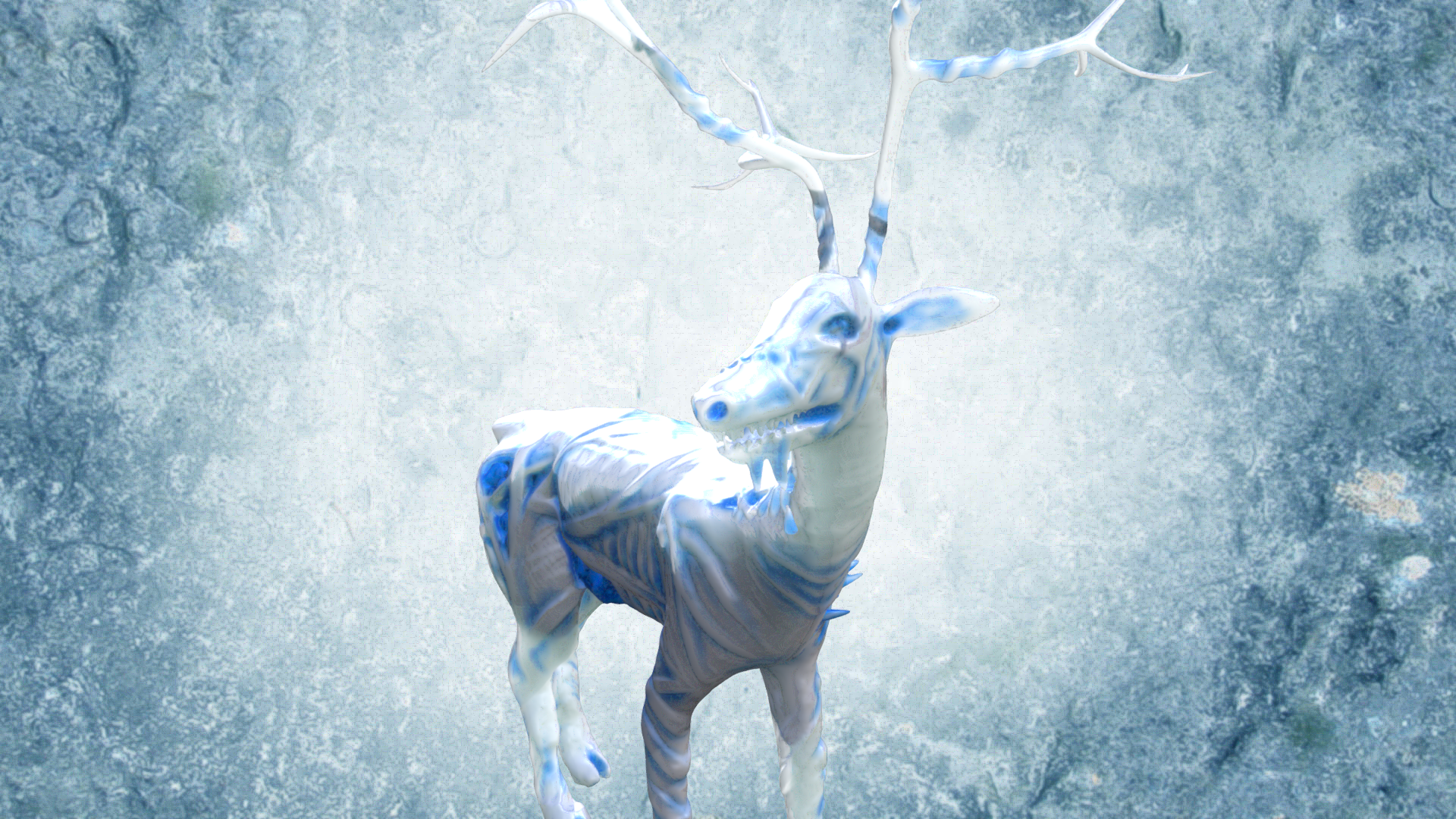 Whitewalker Deer by chaitanyak