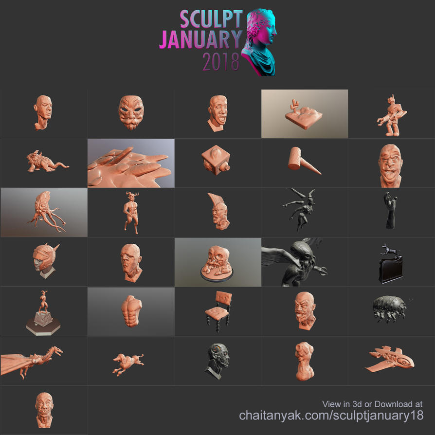 Full-setSculpt January 2018 by chaitanyak