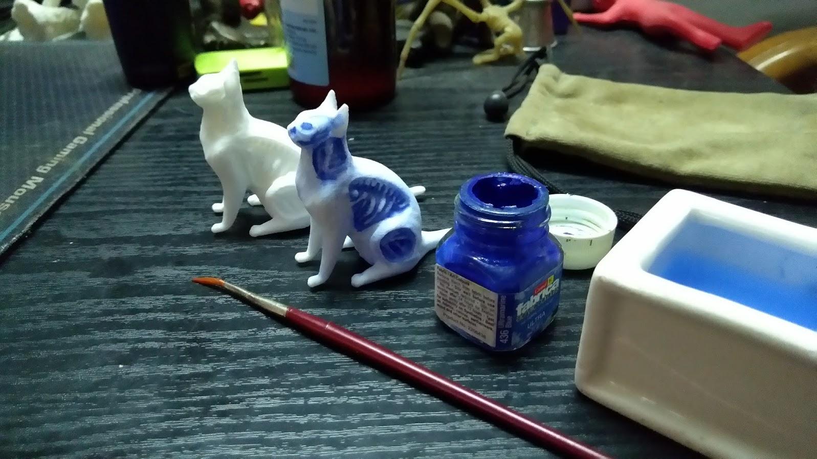 Undead Cat 3d Print Painted by chaitanyak