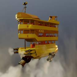 Steampunk Airbus by chaitanyak