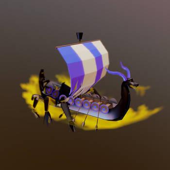 Viking Ship Creature by chaitanyak